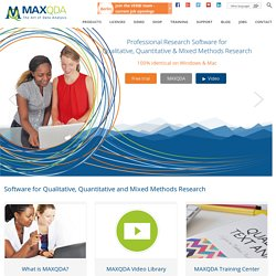 MAXQDA: Qualitative Data Analysis Software - MAXQDA – The Art of Text Analysis