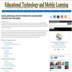 Educational Technology and Mobile Learning: Excellent Qualitative Formative Assessment Toolkit for Teachers