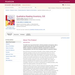 Qualitative Reading Inventory, 5/E - Lauren Leslie & JoAnne Schudt Caldwell