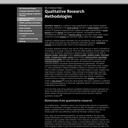 Qualitative Research Methodologies - UNINTER English Language Learning Project