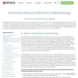 Qualitative Research Methods & Methodology