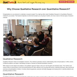 Why Choose Qualitative Research over Quantitative Research?