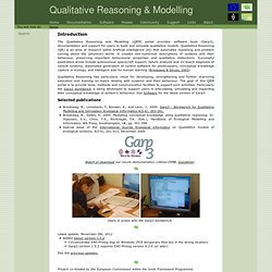 Home :: The Qualitative Reasoning and Modelling Portal