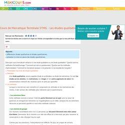 Cours de Mercatique Terminale STMG - Les études qualitatives et quantitatives