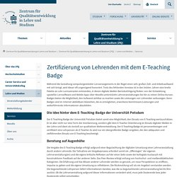 Zertifizierung von E-Teaching der Universität Potsdam- E-Teaching-Badge