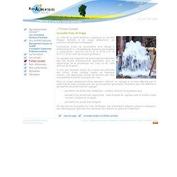 La qualité d'eau de forage - Agroalimentaire conseil