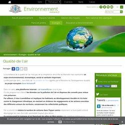 SITE WEB - Qualité de l'air, Ville de Marseille (EnvironnementMarseille.fr)