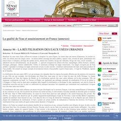 La qualité de l'eau et assainissement en France (annexes)