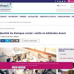 Qualité du dialogue social : outils et méthodes Anact