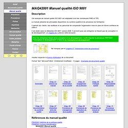 Manuel qualité ISO 9001:2008 (exemple de manuel qualité avec commentaires)