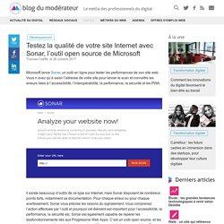 Testez la qualité de votre site Internet avec Sonar, l'outil open source de Microsoft