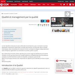 Qualité et management par la qualité