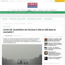 La qualité de l'air influe sur la morbidité du coronavirus
