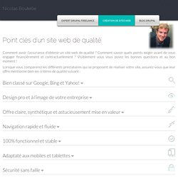 Point clés d'un site web de qualité