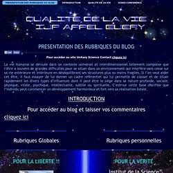 Qualite de la Vie: PRESENTATION DES RUBRIQUES DU BLOG