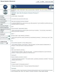 Réseau Qualité en Recherche - QQOQCP: Quoi, Qui, Où, Quand, Comment, Pourquoi?