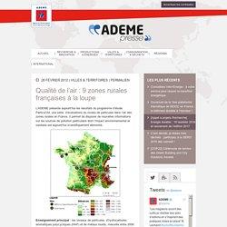 Qualité de l'air : 9 zones rurales françaises à la loupe