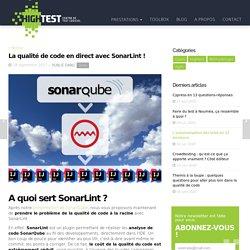 La qualité de code en direct avec SonarLint !