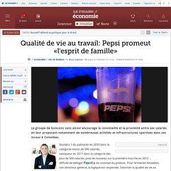 Vie de bureau : Qualité de vie au travail: Pepsi promeut «l'esprit de famille»