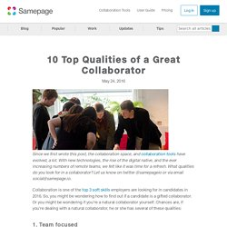 10 Top Qualities of a Great Collaborator