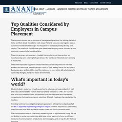 Top Qualities Considered by Employers in Campus Placement