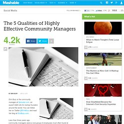 The 5 Qualities of Highly Effective Community Managers