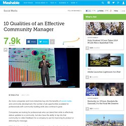 10 Qualities of an Effective Community Manager