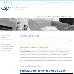 15 Qualities of a Good Coach in the Workplace - CSP