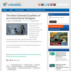 The Most Desired Qualities of an Instructional Designer