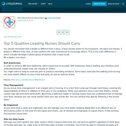 Top 5 Qualities Leading Nurses Should Carry: inanurse