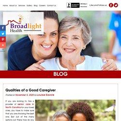 Qualities of a Good Caregiver