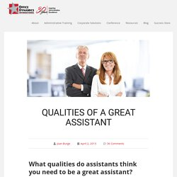 Qualities Of A Great Assistant