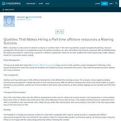 Qualities That Makes Hiring a Part-time offshore resources a Roaring Success: abacasys1