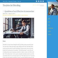Qualities of an Effective Screenwriter