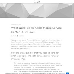 What Qualities an Apple Mobile Service Center Must Have? – Apple & Oneplus Devices Repair – Rapid Repair