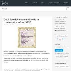 Qualitiso devient membre de la commission Afnor S95B