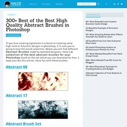 300+ Best of the Best High Quality Abstract Brushes in Photoshop