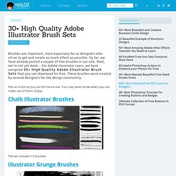 30+ High Quality Adobe Illustrator Brush Sets