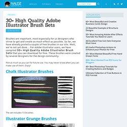 30+ High Quality Adobe Illustrator Brush Sets
