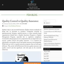 Quality Control vs Quality Assurance (Quality consulting)