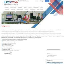 Quality Assurance From INOX India Pvt. Ltd.