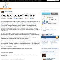 Quality Assurance With Sonar