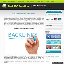 Buy Quality Backlinks for Website