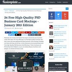 24 Free High-Quality PSD Business Card Mockups - January 2015 Edition - Fusionplate.com
