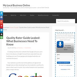 Quality Rater Guide Leaked: What Businesses Need To Know