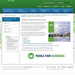 Air Quality & Climate Change Tools for Schools - Halton Region