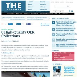 8 High-Quality OER Collections