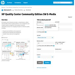 HP Quality Center Community Edition SW E-Media