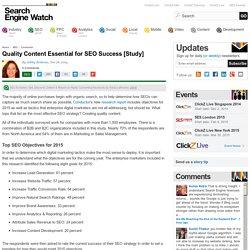 Quality Content Essential for SEO Success [Study]