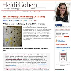 How To Get Quality Content Marketing On The Cheap